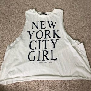 Brandy Melville graphic muscle tee shirt